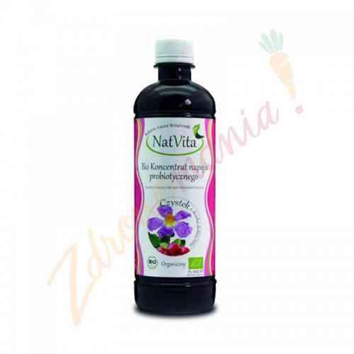 Organiczny koncentrat napoju probiotycznego - czystek i dzika róża 500ml NatVita