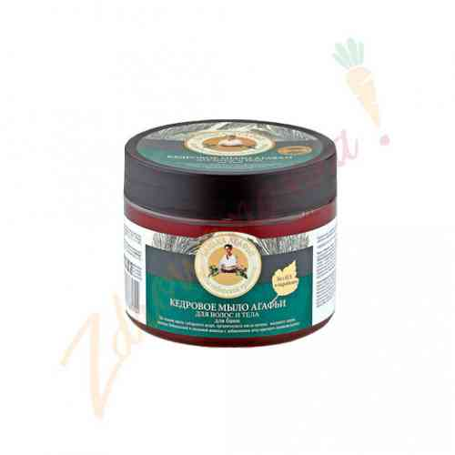 Mydło do włosów i ciała z olejkiem cedrowym 300 ml, Bania Agafii