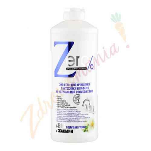 Żel do czyszczenia urządzeń sanitarnych i kafelek na bazie naturalnej niebieskiej gliny 500 ml, ZERO
