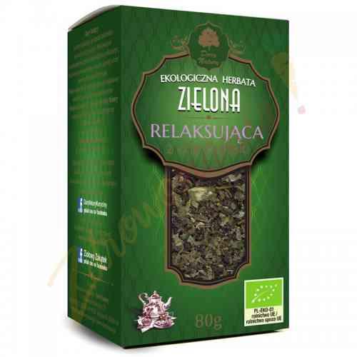 Herbata zielona cejlońska RELAKSUJĄCA ekologiczna 80 g Dary Natury