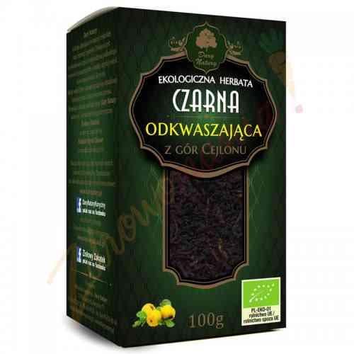 Herbata czarna cejlońska ODKWASZAJĄCA ekologiczna 100 g Dary Natury