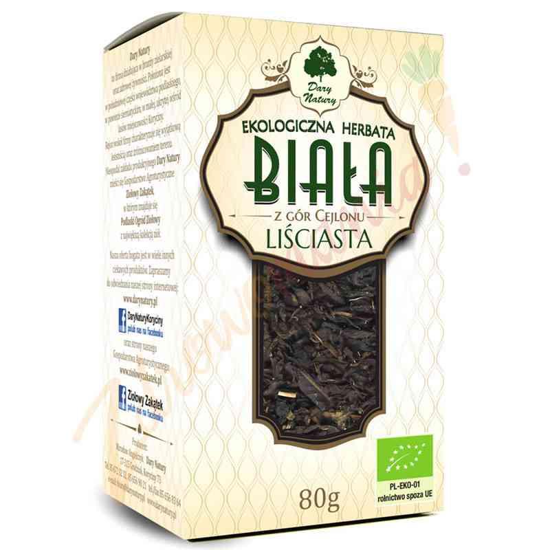 Herbata biała cejlońska ekologiczna 80 g Dary Natury