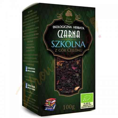 Herbata czarna cejlońska SZKOLNA ekologiczna 100 g Dary Natury