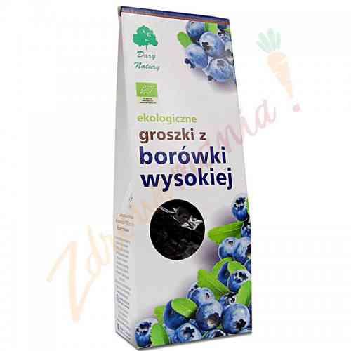 Groszki z borówki wysokiej ekologiczne 150 g, Dary Natury