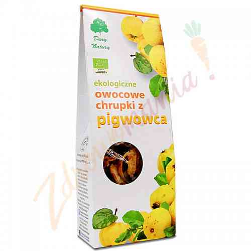 Chrupki owocowe z pigwowca ekologiczne 100 g, Dary Natury