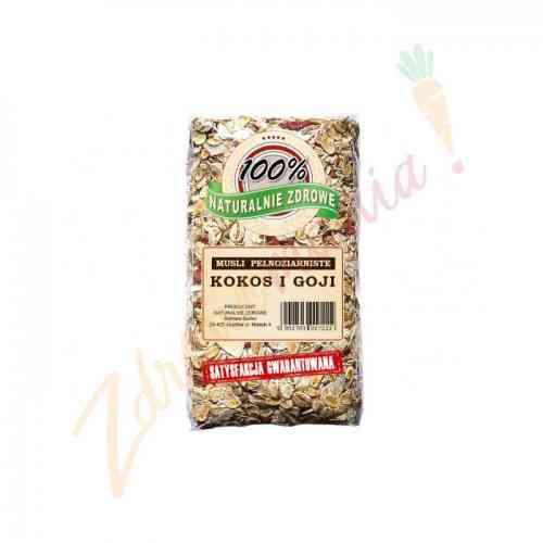 Musli pełnoziarniste - kokos i jagody goji 350g, Naturalnie Zdrowe