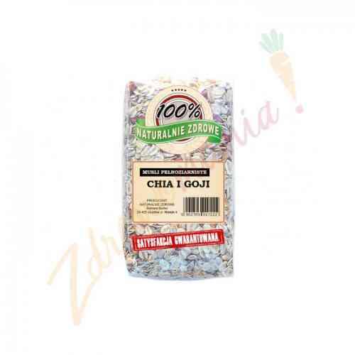 Musli pełnoziarniste - chia i jagody goji 350 g, Naturalnie Zdrowe
