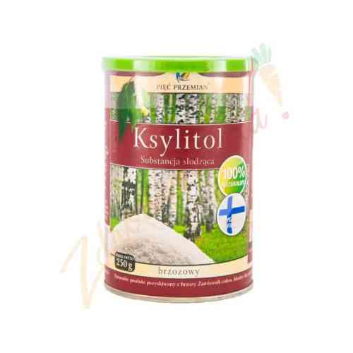 Ksylitol, fiński cukier brzozowy 250 g, Pięć Przemian