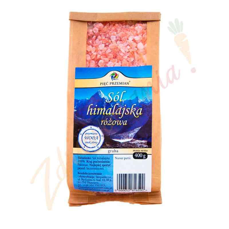 Sól himalajska gruba / krystaliczna 400 g, Pięć Przemian