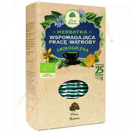 Herbata wspomagająca pracę wątroby 25x1,5 g, Dary Natury