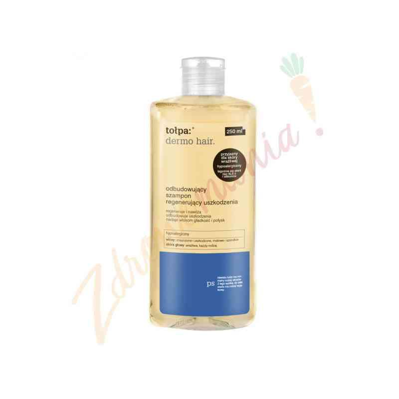 Odbudowujący szampon regenerujący uszkodzenia 250 ml Tołpa dermo hair.