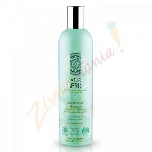 Ekologiczny szampon przeciwłupieżowy cert. ICEA 400 ml Natura Siberica