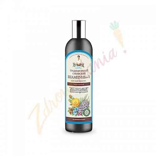 Syberyjski szampon do włosów na propolisie cedrowym 550 ml, Recepty Babci Agafii
