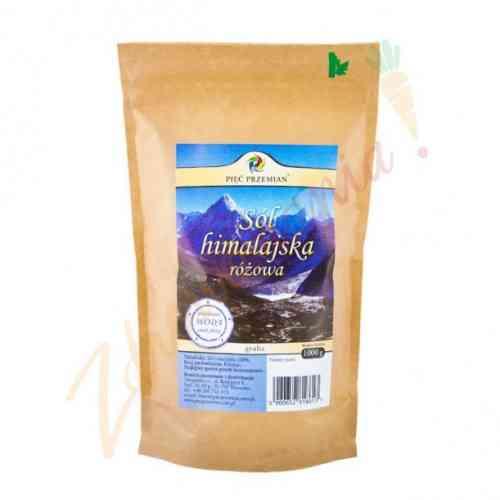 Sól himalajska różowa gruboziarnista 1000 gram