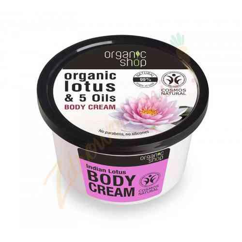 Krem do ciała - Indyjski lotos 250 ml Organic Shop