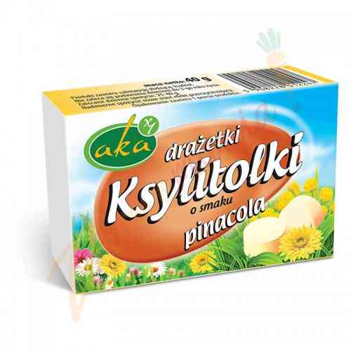 Ksylitolki PINACOLA - drażetki pudrowe 40 g AKA