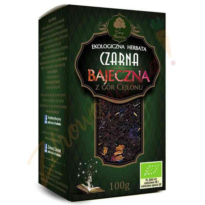 Herbata czarna cejlońska BAJECZNA ekologiczna 100 g Dary Natury