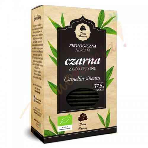 Herbata czarna cejlońska LIŚCIASTA ekologiczna 25x1,5g Dary Natury