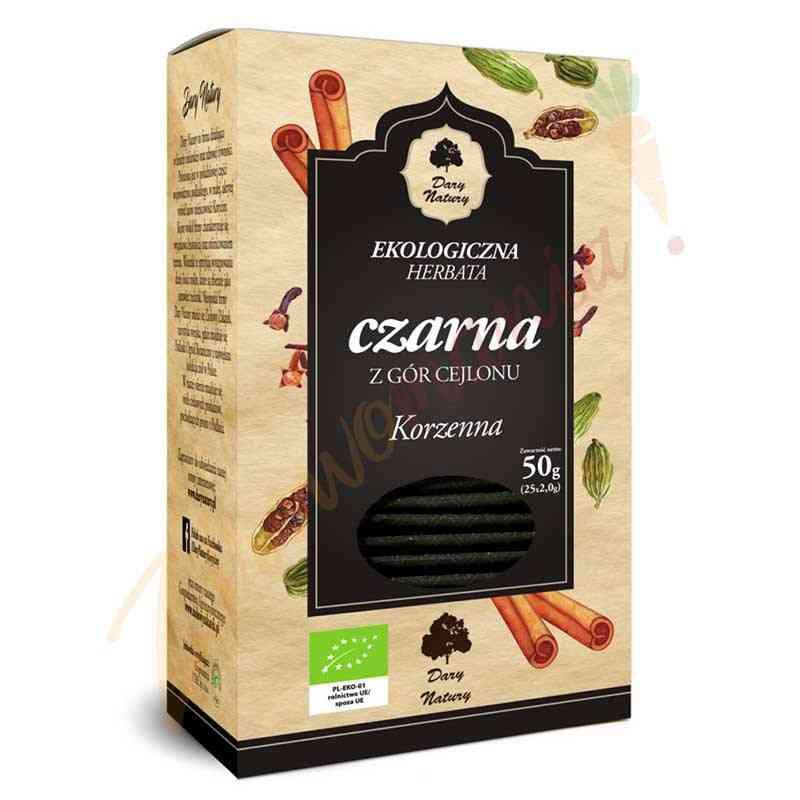 Herbata czarna cejlońska KORZENNA ekologiczna 25x2g Dary Natury
