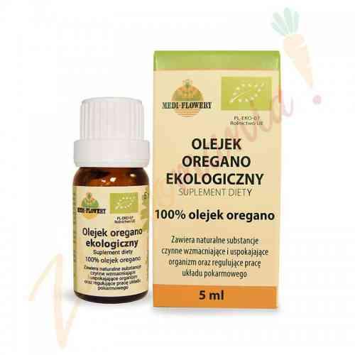 Olejek oregano ekologiczny, suplement diety 5 ml Medi-Flowery