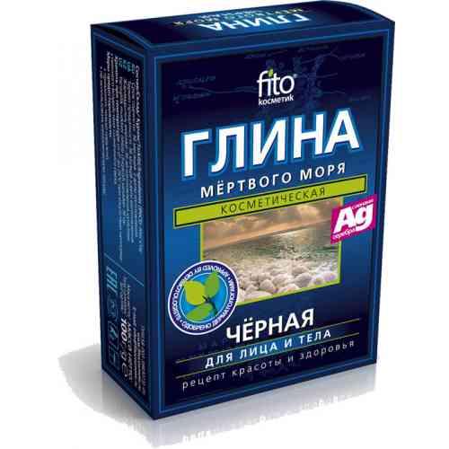 Czarna glinka z MORZA MARTWEGO z jonami srebra 100g Fitokosmetik