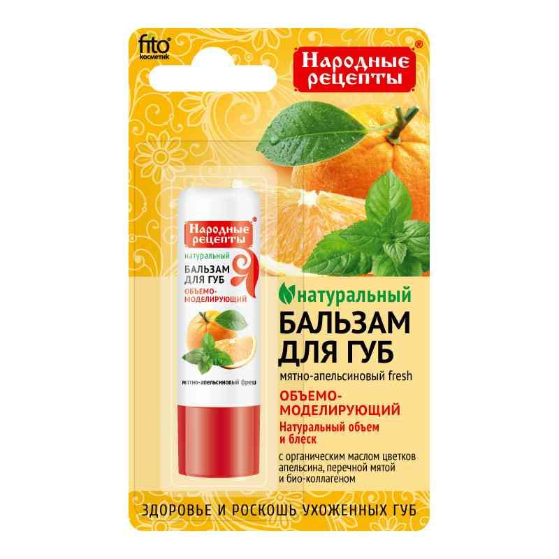 Organiczny balsam do ust 4,5g MIĘTOWO-POMARAŃCZOWY FRESH Fitokosmetik Przepisy Ludowe